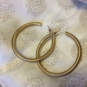 Gold Hoops Never Worn!!